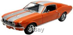 1968 Ford Mustang GT Fastback Orange with Silver Stripes 1/18 Limited Edition