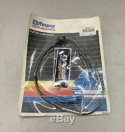 1970-74 E-Body 71 B NOS 440 6 Pack Throttle Cable Purple Stripe Six Barrel Cuda