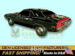 1970 Dodge Challenger R/T RT Bumble Bee Stencil Stripes Kit