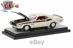 1970 Dodge Challenger T/A Bright White with Flat Black Stripes 1/24 by M2