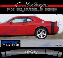 2008 2015 Dodge Challenger Bumble Bee Style Tail Stripe Kit Solid #1 Quality