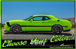 2009 and up Dodge Challenger Side Racing Stripes RT SRT8 Scat Pack HellCat #13