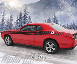 2015 2016 Dodge Challenger Dual Side Strobe Racing Stripes Decals Rally