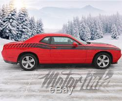 2015 2016 Dodge Challenger Full Side Strobe Racing Stripes Decals Rally