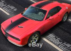 2015 2016 Dodge Challenger Rally Stripes Over the Top Decals Solid Racing