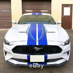 25FT/50FT Long Gloss Color Racing Stripes Vinyl Wrap Rally Decals Stripe Sticker