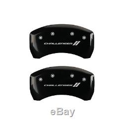 Black withStripes Caliper Covers For 2009-2010 Challenger R/T 5.7L V8 by MGP