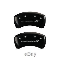 Black withStripes Caliper Covers For 2011-2019 Dodge Challenger by MGP