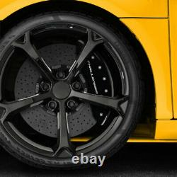 Black withStripes Caliper Covers for 2011-2020 Dodge Challenger by MGP
