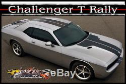 Dodge Challenger T- Rally Solid Factory Stripe 3m Automotive Graphic 2008-2014