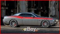 DUEL FULL STRIPE KIT Dodge Challenger 2008 2010 Automotive 3m Graphic Decal