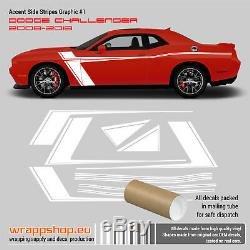 Dodge Challenger 2008 2018 Accent stripes graphic vinyl decal