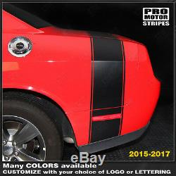 Dodge Challenger 2008-2019 Super Bee Style Rear Stripes Decals (Choose Color)