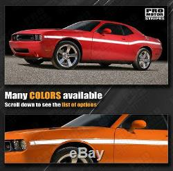 Dodge Challenger 2008-2019 Yellow Jacket Style Mid Body Stripes (Choose Color)