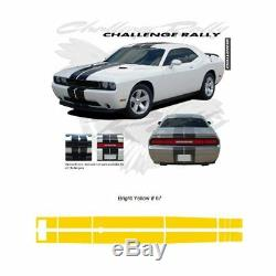 Dodge Challenger 2011 up w XM Antenna Rally Stripes Graphic Kit Bright Yellow