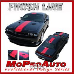 Dodge Challenger 2014 WIDE Center RALLY Racing Stripes Decals 3M Graphics RD6