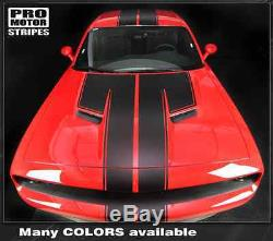 Dodge Challenger 2015-2016 Top Double Stripes Decals Pinstriping (Choose Color)