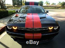 Dodge Challenger 2017 17 Racing Stripes Hash Marks Cut Graphics Decal Sticker