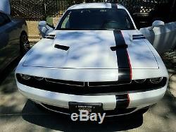 Dodge Challenger 25' Mopar Style Racing Stripes Decals Gloss Black Red Graphics