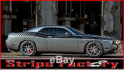 Dodge Challenger Duel Full Fs Graphic Decal 2008,2009,2010 Factory Stripe Decal
