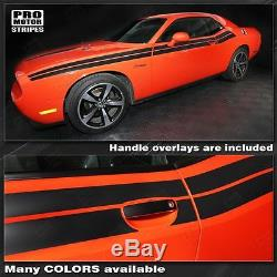 Dodge Challenger Factory Style Dual Side Stripes Decals 2011 2012 2013 2014