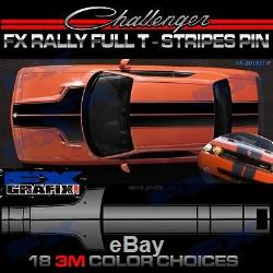 Dodge Challenger Factory Style T-Stripe Rally Kit Pin Accents 3M Quality 08-14