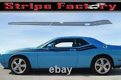 Dodge Challenger Front Angle Duel 2008 2009 2010 / 3m Stripe Factory Decal