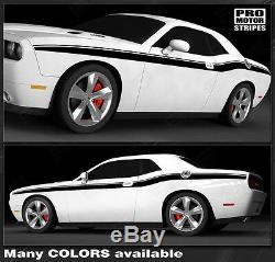 Dodge Challenger Full Side Accent Stripes Decals 2011 2012 2013 2014 Pro Motor