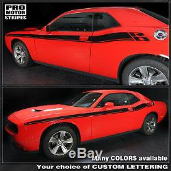 Dodge Challenger New R/T Style Side Stripes Decals 2015 2016 2017 2018 2019