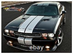 Dodge Challenger Rally Stripe Solid Kit 2008 To 2014 Factory Stripe Decal