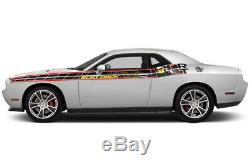 Dodge Challenger SXT RT SRT Rally Race Stripes Side Graphics Decals 08-16 SCATPK