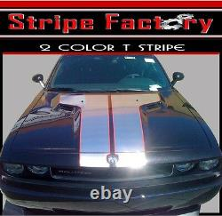 Dodge Challenger T-hood 2 Color With Outline Factory Stripe 2008 To 2014