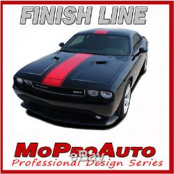 Dodge Challenger WIDE Center RALLY / 2011 Racing Stripes Decals 3M Graphics 9RT