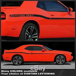 Dodge Challenger Yellow Jacket Style Side Stripes 2008-2010 2011 2012-2014 2015