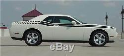 Dual Long Strobes Ext. Stripes 3M Pro Vinyl Decal for 2011-2017 Dodge Challenger