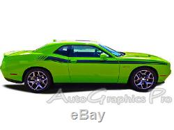 Dual Strobe R/T Stripes Decals Vinyl Graphic 3M PRO 2011-2019 Dodge Challenger