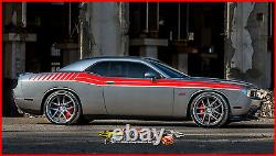 Duel Full Fs Graphic Decal Dodge Challenger 2008-2010 Automotive Stripe Kit