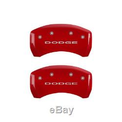 MGP 4 Caliper Covers Engraved Front & Rear With out stripes/Dodge Red finish sil