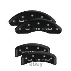 MGP 4 Caliper Covers Engraved Front & Rear With stripes/Challenger Black finish