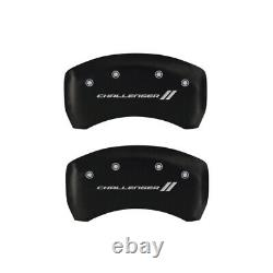 MGP 4 Caliper Covers Engraved Front & Rear With stripes/Challenger Red finish si