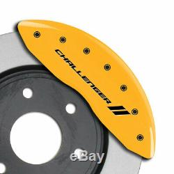 MGP Caliper Covers withStripes for 2011-2016 Dodge Challenger SE/SXT-Yellow