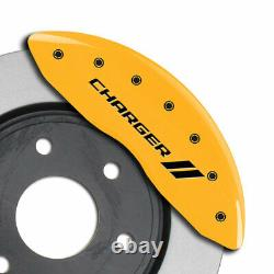 MGP Caliper Covers withStripes for 2011-2020 Charger withSingle Piston-Yellow