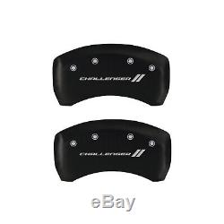 Matte Black withStripes Caliper Covers For 2011-2018 Dodge Challenger SE/SXT -MGP