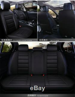 New Design Stripes Luxury PU Leather 5D car-styling Universal Car Seat Covers