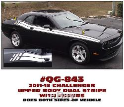 QG-843 2011-2015 DODGE CHALLENGER DUAL UPPER BODY STRIPE with FADERS RETRO