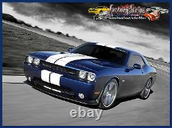 Rally Stripe Solid Kit Dodge Challenger 2008 To 2014 Automotive Graphic Decal