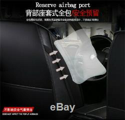 Red Stripe PU leather Universal Car Seat Covers Protection Front + Rear 5-Seat
