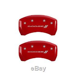 Red withStripes Caliper Covers for 2005-2008 Dodge Magnum 2.7/3.5L V6 by MGP
