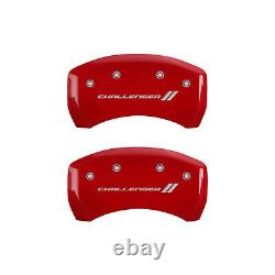 Red withStripes Caliper Covers for 2011-2020 Dodge Challenger SE/SXT by MGP