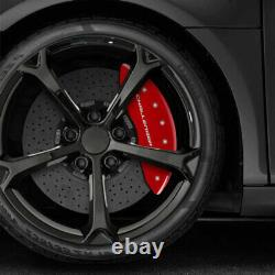 Red withStripes Caliper Covers for 2011-2020 Dodge Challenger by MGP